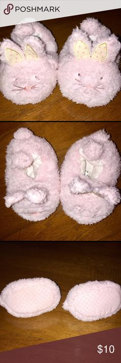 Carters Pink Bunny Cozy Slippers 6-12M Carters Bunny Cozy Slippers 6-12 M Carter's Shoes
