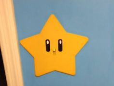 Super Mario star wall switch. Check out more pictures of this room and other rooms on the website link.....enjoy!