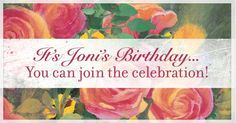 You can help make Joni's 65th birthday an enormous blessing! Write her a birthday message and give a donation in Joni's name!