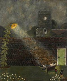 GARY BUNT, The Sleeping Gardener, Oil on canvas, 48 x 40 ins