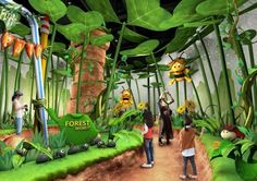 coal mine culture integrated tourism support center exhibition hall / 영월 탄. Kids Indoor Playground, Playground Design, Kids Cafe, Kindergarten Design, School Murals, Exhibition Display, Kid Spaces, Backdrops, Creations