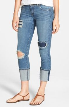 KUT from the Kloth 'Cameron' Distressed Straight Leg Jeans (Extreme) available at #Nordstrom-$94.00