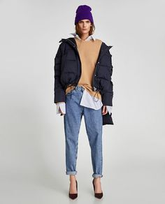 Image 1 of QUILTED JACKET WITH SCARF from Zara