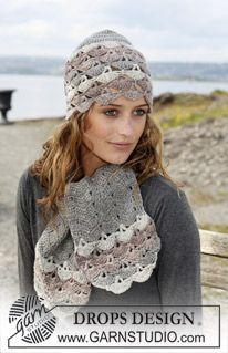 "DROPS crochet hat and scarf in ""Karisma Superwash"". Yarn alternative ""Merino"". ~ DROPS Design"