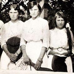 "Closeup picture of the Grand Duchesses Olga,Tatiana and Anastasia Nikolaevna Romanova of Russia in 1914. ""AL"""