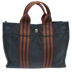 """Blue And Red Blue/Brown  BG-#2096975"" HERM?S  Blue And Red Blue/Brown Tote Bag Hermes Bags Totes"