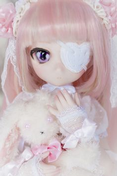 ☆cuteness will save the world☆ Pretty Dolls, Beautiful Dolls, Dainty Doll, Kawaii Doll, Kawaii Anime, Doll Painting, China Painting, Anime Figurines, Dream Doll