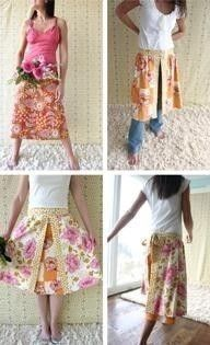 Amy Butler Barcelona Skirts Sewing Pattern FREE by Ahmelie on Etsy, $14.95