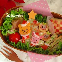 Food art | Winnie the Pooh X'mas bento