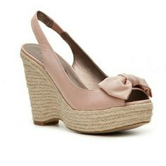 Moda Spana Holly Pink Espadrille Wedge Shoe New without tags, Blush pink, Size 6 Moda International Shoes Wedges