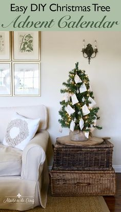 This easy adorable DIY advent calendar Christmas tree is so easy! Get all the details and supplies I used! ---> #maisondecinq farmhousestyle farmhousechristmas farmhouseadventcalendar adventcalendar DIYadventcalendar easychristmascraft christmascraft christmasdecor christmasdecoratingideas holidaydecor holidaydecorating