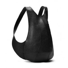 Leather womens backpack, small black leather backpack - YEARSBAG