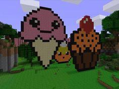 Minecraft candy  | Ice Cream Cone, Candy Corn, Halloween Cupcake! :)