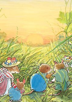 They walked back through the fields in the evening sun, looking very splendid in their wedding clothes.