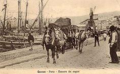 GENOVA - Porto, manovre dei vagoni - FOTO STORICHE CARTOLINE ANTICHE E RICORDI DELLA LIGURIA