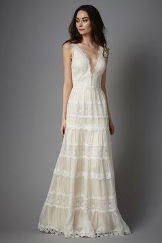 Genevieve wedding gown, Catherine Deane #weddingdress #lace