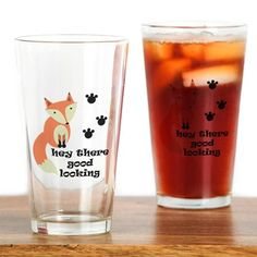 Hey There Drinking Glass on CafePress.com