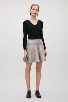 COS   Metallic foil skirt