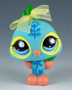 Littlest Pet Shop Peacock #1069 Blue With Blue Eyes #Hasbro