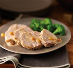 Pork Tenderloin with Raisin Cream Sauce using the NEW Tupperware Microwave Pressure Cooker. Prep and cook in 20 minutes.