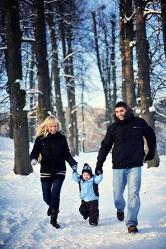 Winter Family Photos In Park If Onlly I Had Snow Christmas