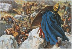 King Louis VII takes refuge on a rock during the battle of Mount Cadmus (8 January 1148)