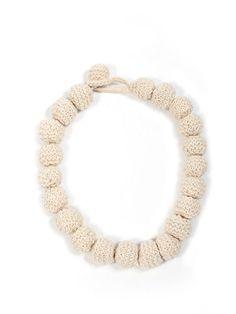 Necklace Knitting Kit: British alpaca wool yarn knitting pattern knitted scarf