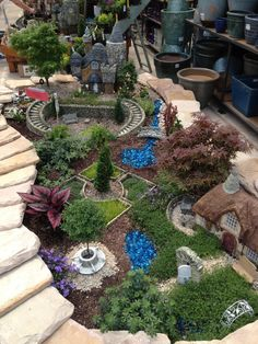 Fantastic fairy garden display at Farmer John's Greenhouse in Farmington Hills, Michigan.