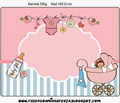 Cochecito Rosa de Bebé: Etiquetas para Candy Bar para Imprimir Gratis.