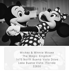 keepsake | mailing your wedding invitations to The President and Mickey Mouse...totally doing this!