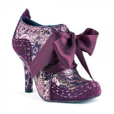Purple Irregular choice boots. Love.