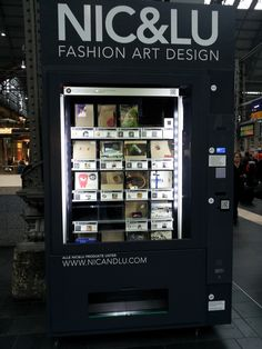 Design products from vending machine from NIC & LU - a brilliant concept. You can find more information on UNIKAT AUTOMAT in FB.