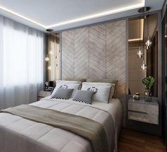 Quarto do Casal | Um quarto para sonhar acordado. Elementos como o couro e o espelho bronze, contrastam de forma harmônica com nuances de bege nessa bela suíte!