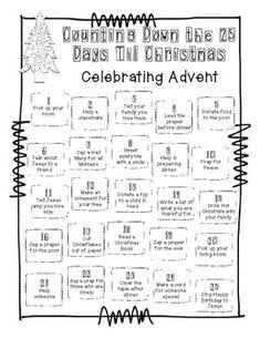 Advent Calendar FREEBIE Kids Christmas, Christmas Crafts, Xmas, School Items, School Stuff, Advent Calenders, Teacher Newsletter, Christmas Printables, Teaching Resources