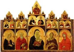The Madonna and Child with Saints - Duccio