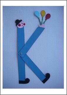 Κ όπως κλόουν Alphabet, Letter K, Motor Skills, Classroom Decor, Kindergarten, Blog, Teaching, Greek, Crafts