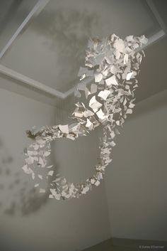 Saree Silverman Sculpture - ceramic ginkgo leaves