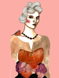miss romance...illustration from Peggy Wolf