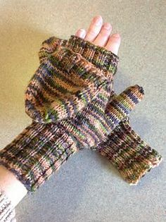 Mittens with a flap. Free knit pattern at RAVELRY. in Worsted