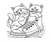 Coloriage chaton trop mignon