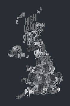 interesting map of the UK