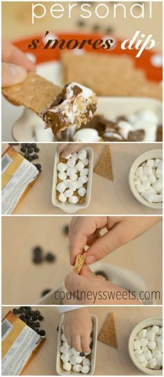 ooey gooey and delicious personal smores dip