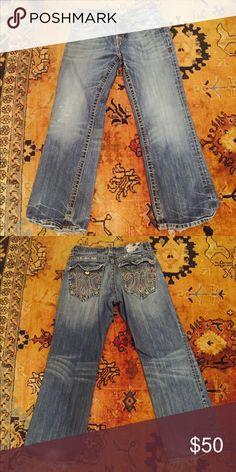 MEK Denim Jeans Men's, slightly worn, boot cut, size 32x32 MEK Jeans Bootcut