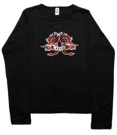 Exile Cycles Girls, Dragon Tattoo, long sleeve, black T-shirt Cycling, Dragon, Tattoo, Sweatshirts, Long Sleeve, Girls, Sweaters, T Shirt, Clothes