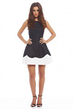 MONOCHROME CREST DRESS http://shopmodmint.com/product/monochrome-crest-dress/