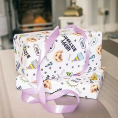 Unwrap the pawfect gift with the Dogsy Wrapping Paper Dog Birthday Gift, Birthday Gift Wrapping, Happy Birthday, Your Dog, Wraps, Presents, Dogs, Pink, Paper