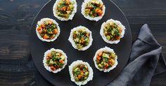 Vegetarian Sushi Cups via @PureWow