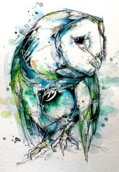 Creative Owl, Color, Paint, Illustration, and Watercolor image ideas & inspiration on Designspiration Illustration Tumblr, Art Photography, Animal Art, Watercolor, Illustration, Drawings, Amazing Art, Art, Owl Painting