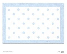 light blue polka dot rug... expensive