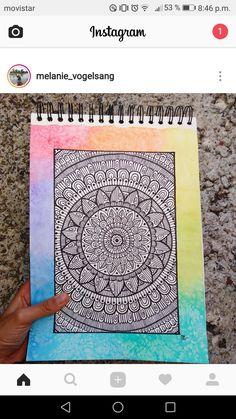 Mandala Art Lesson, Mandala Doodle, Mandala Artwork, Mandalas Painting, Doodle Art Drawing, Zentangle Drawings, Mandala Drawing, Pencil Art Drawings, Watercolor Mandala